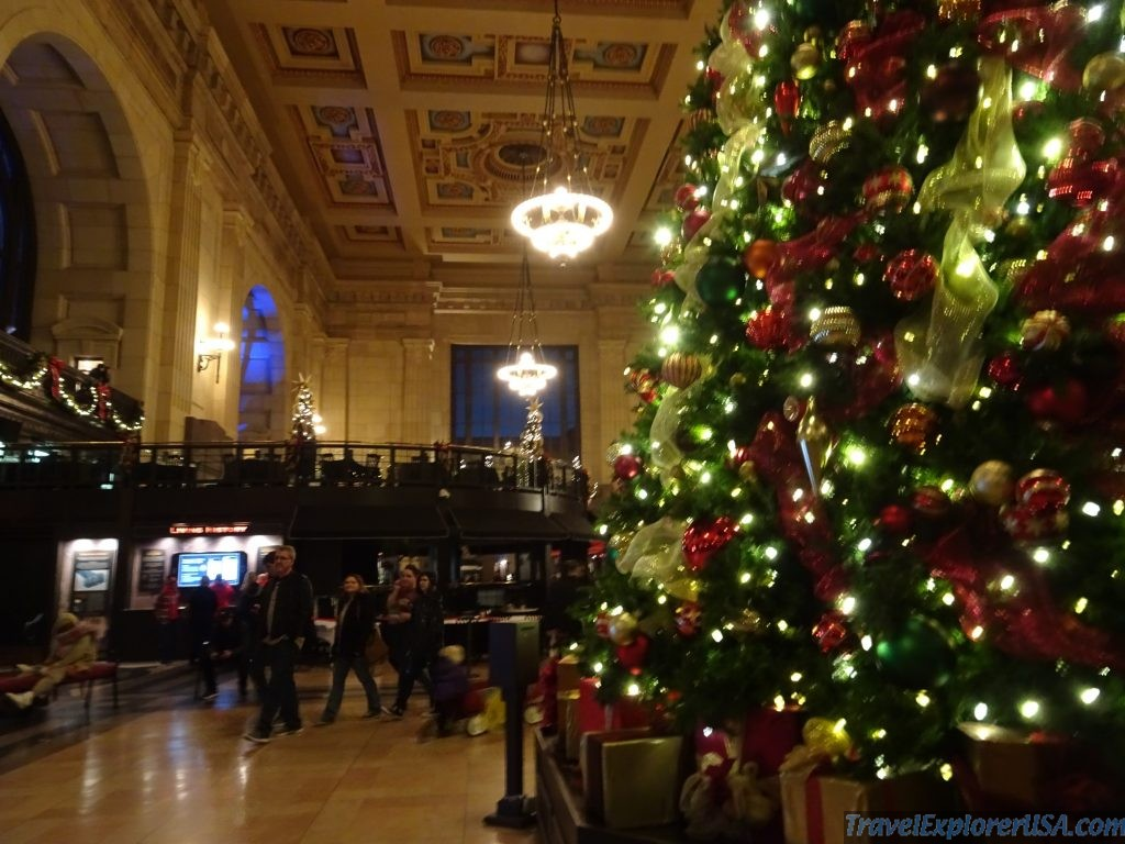 Beautiful Christmas Tree Kansas City Union Station Missouri USA