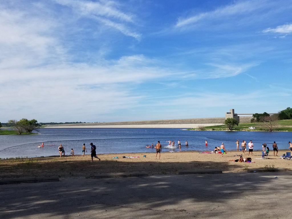 East Rolling Hills Park Beach Milford Lake Kansas