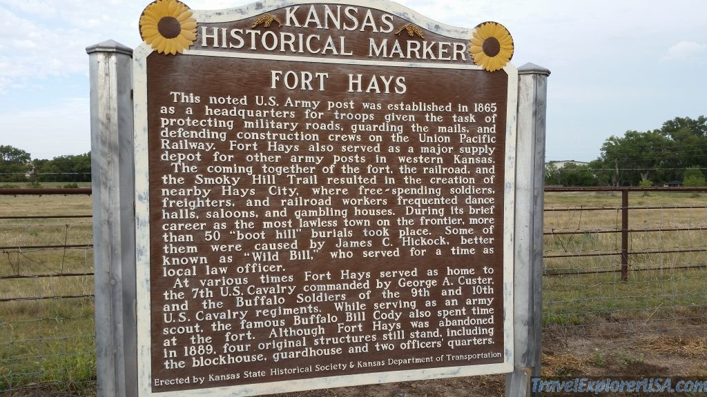 Old Fort Hays Historical Marker