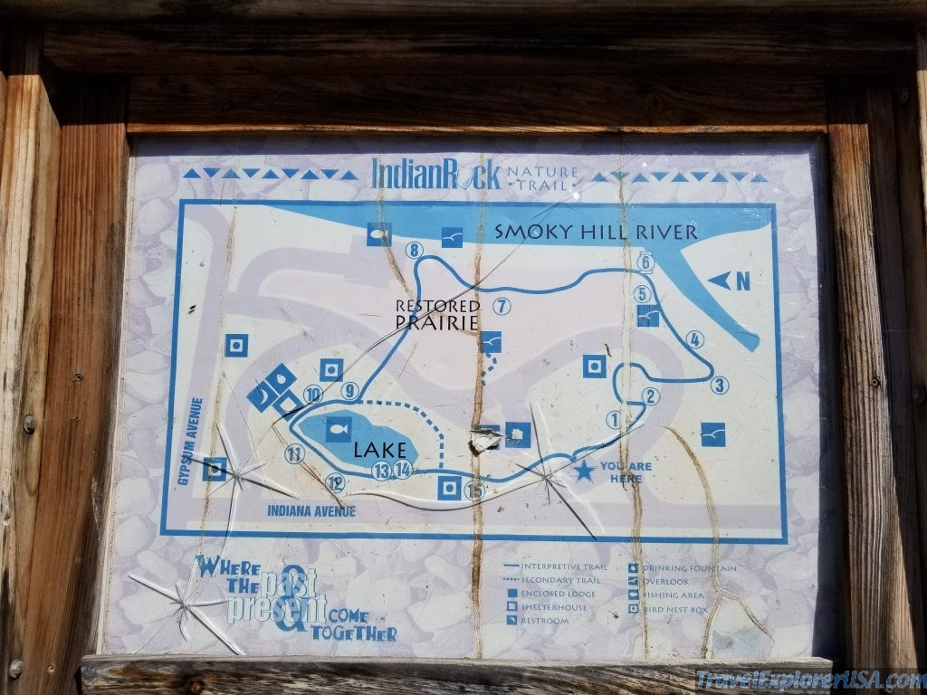 Map of Indian Rock Nature Trail Salina Kansas USA